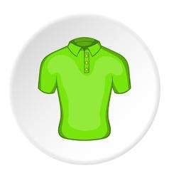 Men green polo icon cartoon style vector