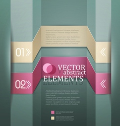 Modern banner Items for Web Business Design vector image vector image