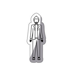 People man with wedding dress icon vector
