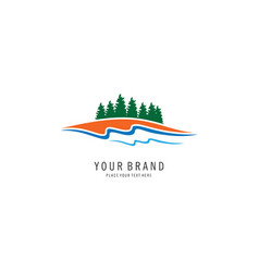 pine forest logo vector image vector image