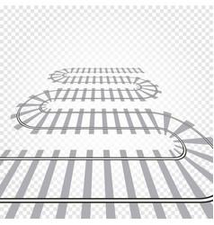 Rail railroad track railway vector
