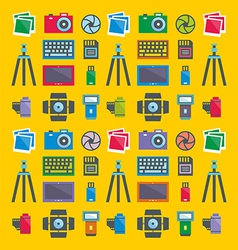 Seamless pattern Photographer vector image vector image