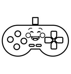 video game control kawaii character vector image vector image