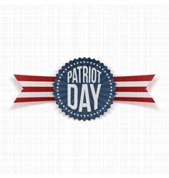 Patriot Day memorial realistic Label vector image