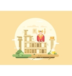 Rome city flat vector image