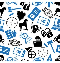 hacker and computer security theme icons seamless vector image