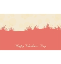 Landscape grass for valentine day vector