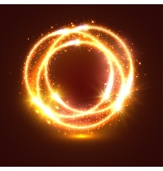 Light flashes and sparkler lights circles vector
