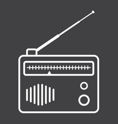 Radio line icon fm and communication vector