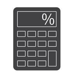 Calculator silhouette vector