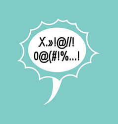 Profanity comic speech bubble isolated place for vector