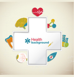 Medical health background vector