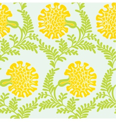 Background with yellow flowers vector image