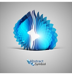 Blue shape vector