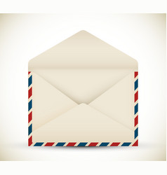 open vintage envelope vector image