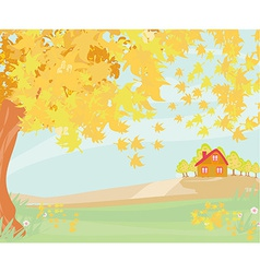 Beautiful autumn landscape vector
