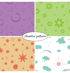 Set of colorful seamless patterns of children vector