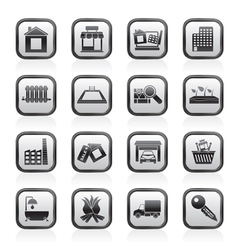 Real estate and building icons vector