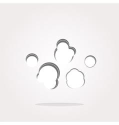 Cloud icon Cloud icon  Cloud icon eps vector image