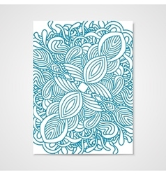 Abstract poster with hand drawn ornament vector image