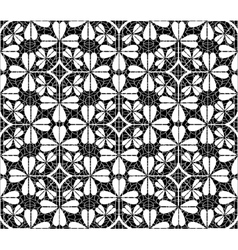 Black net lace with stars on white background vector image
