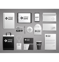 Business mock up set vector image