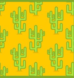 cactus in desert seamless pattern large peyote vector image