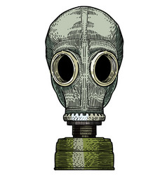 cartoon image of gas mask vector image