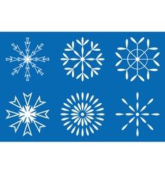 Christmas - set of white snowflakes icon vector