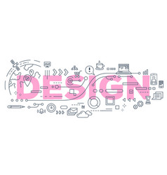 creative of design word lettering vector image vector image