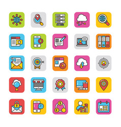 digital and internet marketing icons set 3 vector image vector image