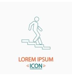 Down staircase computer symbol vector