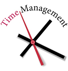 Efficient time management clock work vector image vector image