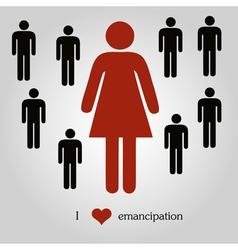 Emancipation concept vector image vector image