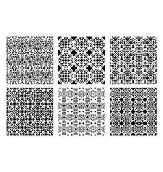 ethnic monochrome patterns set vector image vector image