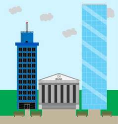 Financial business district vector image