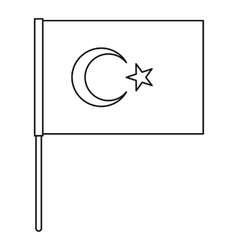 Flag of Turkey icon outline style vector image