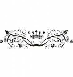 Floral pattern with crown vector