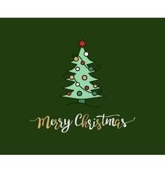 handdrawn Christmas lettering vector image