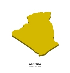 Isometric map of algeria detailed vector