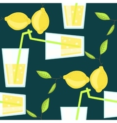 Lemonade cocktail seamless pattern with vector image vector image