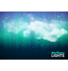 Magic Fabulous Night Sky with Clouds and Realistic vector image vector image