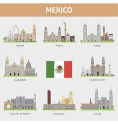 Mexica set vector image vector image