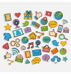Mobile Apps Scrapbook Sticker Set vector image vector image