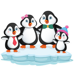 of penguin family vector image vector image