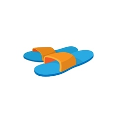Pair of slippers icon cartoon style vector image