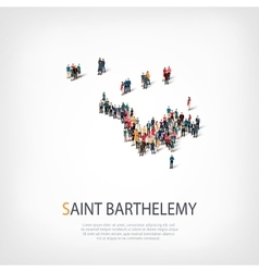 People map country saint barthelemy vector