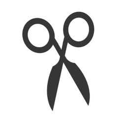 scissor cut silhouette icon vector image