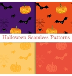 Set of halloween backgrounds Collection of vector image vector image
