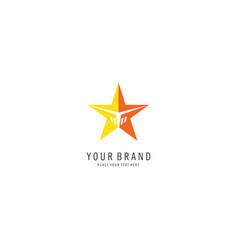 star company logo vector image